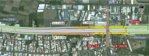 044(技規)-國道1號增設大灣交流道配置示意圖