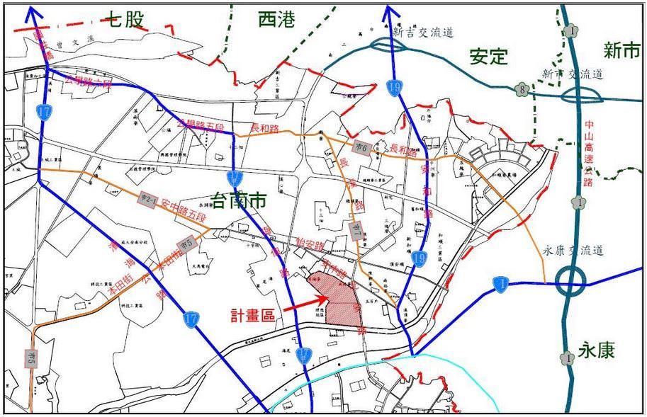 您知道台南市安南區副都心「商60」及其北側住宅區,這個是在哪裡呢?本計畫區區位條件為串連安南區與北區之重要中心地點喔