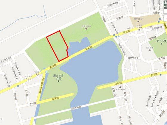 安平水景公園區段徵收土地標售成功,每坪17萬3716元得標,聯上實業聽說要規畫興建飯店。