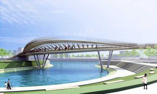 台南市推運河觀光 承天橋封橋改建