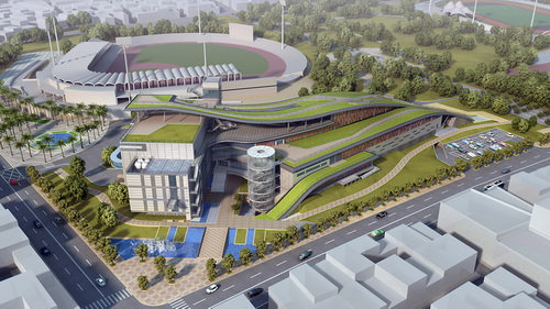 國運中心難產 市府遭批太消極 永華國民運動中心八月完成招商說明會。
