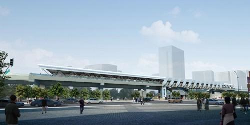 五權高架車站鳥瞰模擬圖/網路擷取