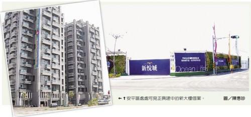 安平區處處可見正興建中的新大樓個案。圖/陳惠珍