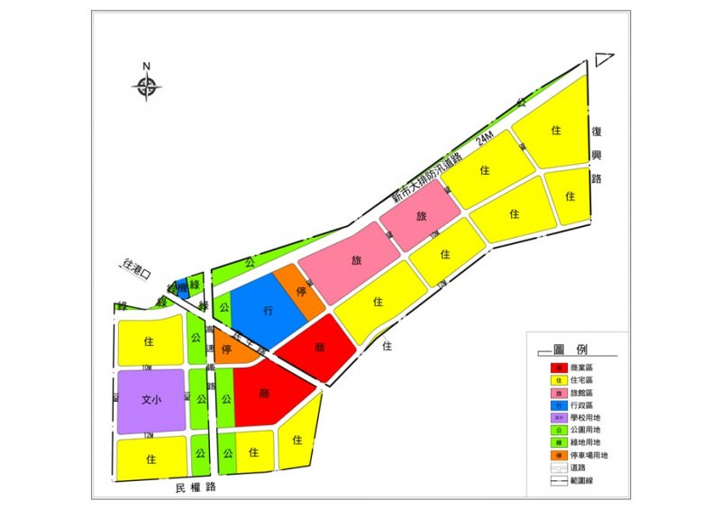 土地使用計畫示意圖