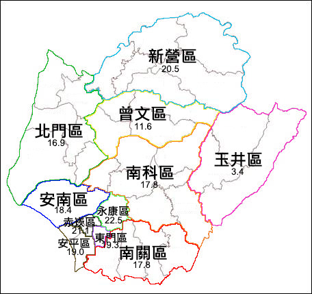 〈南部〉台南37區整併成11區? 人口平衡考量