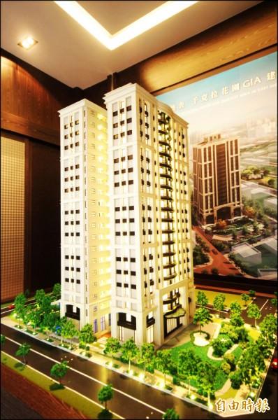 台南市東區景觀大樓,基地周圍環繞公園綠地,讓住宅賞景機能加分,受到多金買家歡迎。(記者林耀文攝)