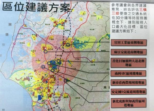 出爐啦!台南新市政中心選址 委員建議以軌道運輸為主