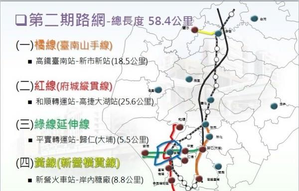 台南高架輕量單軌路網公布站點 全台第一座