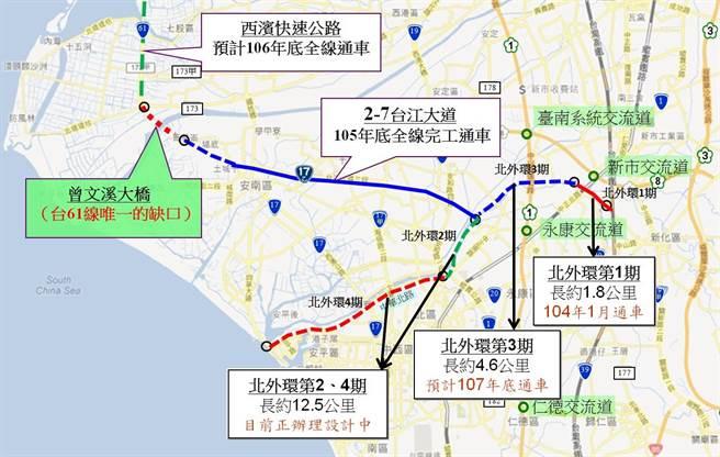 台南/台61線銜接2-7道路最後一哩路─曾文溪橋政院拍板
