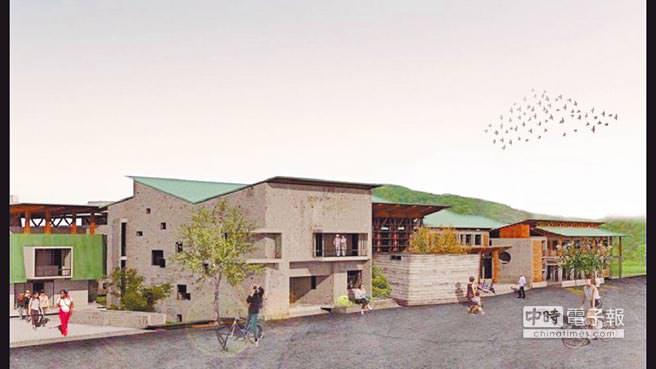 左鎮菜寮化石文化園區模擬示意圖。(曹婷婷攝)