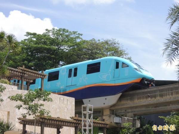 打造適合台南的「捷運」公共運輸系統,單軌捷運為交通局評估選項之一。(記者蔡文居攝)
